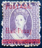 NATAL 1895 1/2d Ovpt.on 6d Queen Victoria MLH - South Africa (...-1961)