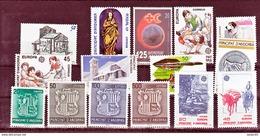 Andorre Espagnol 189 à 203 Années 1988 1989 Complètes  Neuf ** MNH Sin Charmela Cote 19.95