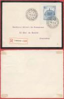AM896 Devant De Lettre De Deuil Recommandée De Charleroi 1 En Ville 1936