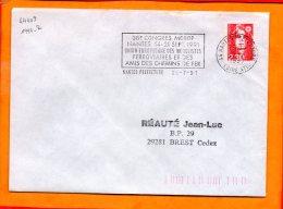 LOIRE-ATL., Nantes, Flamme à Texte, 38e Congres MOROP, 14-21 Sept. 1991, Modelisme Ferroviaire - Sellados Mecánicos (Publicitario)