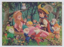 POSTCARD 3D Plastic Post Card - Dolls Party, Damage Left Side - Postcards