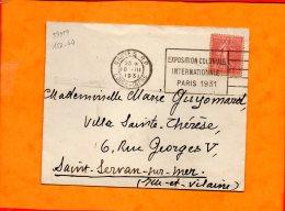 LOIRE-ATL., Nantes, Flamme à Texte, Exposition Coloniale Internationale, Paris 1931 - Oblitérations Mécaniques (flammes)