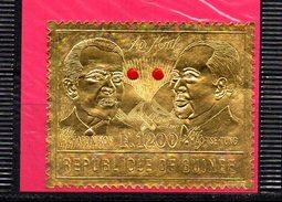 Sello De Guinee Con Richard Nixon And Mao Tse-tung. - Mao Tse-Tung