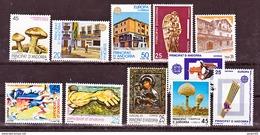 Andorre Espagnol 204 à 215 Années 1990 1991 Complètes  Neuf ** MNH Sin Charmela Cote 8.15