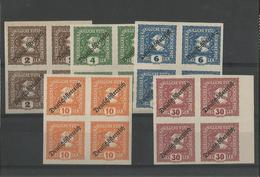 AUTRICHE - BLOC 4 TIMBRES POUR JOURNAUX NON DENTELES NEUFS* SURCHARGES N° 29 à 33 - 1918/19 - SERIE COMPLETE - VOIR SCAN - 1918-1945 1ère République