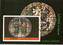 Bf. Ajman 1972 Church Windows Vetrate Perf. - Vetri & Vetrate
