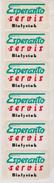 Esperanto Sticker From Bialystok - Algxluajxo El Bjalistoko - Stickers