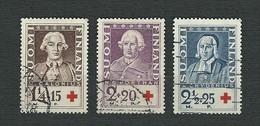 FINLAND 1935 - Pro Croce Rossa: Ritratti Di Scienziati - 3 Valori - Mi:FI 188-90