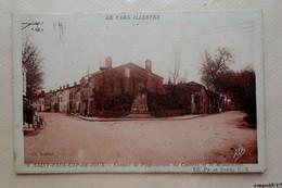 81- SAINT PAUL CAP DE JOUX. TARN. -  Avenue De Puylaurens , De Castres Et Le Monument - Saint Paul Cap De Joux