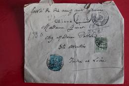 1898    LETTRE  CHARGÉE DE  LANNION  POUR  SAINT  AVERTIN     2  PHOTOS - Handstempel