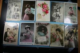Lot De 10 Cartes Postales Fantaisies Diverses /16/ - Fantaisies