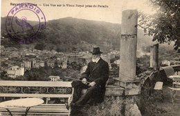 CPA -  ROYAT  Les  BAINS  (63)  Une Vue Sur Le Vieux Royat Prise Du Paradis  - Cachet  PARADIS - ROYAT Les BAINS - Royat