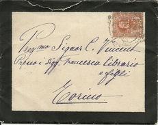 """Busta Con Francobollo 20 Centesimi Arancio, Effigie Umberto I Con Forellini (punctured) Che Formano Le Lettere """"C I B"""" - 1878-00 Umberto I"""