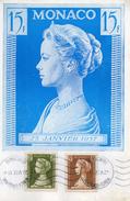 Carte Publicitaire - ALGOPLASMA - SOCA - Monte - Carlo - Timbres Monaco 23 Janvier 1957 - Docteur Pacqualini à Asnières.