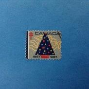 Erinnofilo Chiudilettera Usato 1957 Canada - Cinderellas