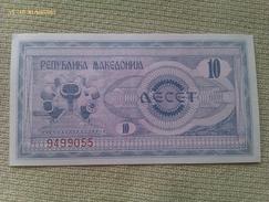 Billete Macedonia. 10 Dinares. 1992. Sin Circular - Macedonia