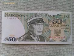 Billete Polonia 50 Zloty. 1988. Sin Circular. - Polonia