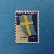 Erinnofilo Chiudilettera Nuovo MNH** - Svezia SVENSKA FLAGGANS DAG NATIONALDAGEN - Erinnofilia