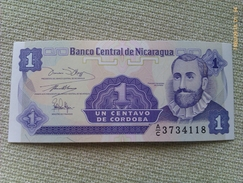 Billete Nicaragua. 1 Centavo. 1991. Sin Circular - Nicaragua