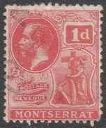 Montserrat. 1916-22 KGV. 1d Used. Mult Crown CA W/M SG 50 - Montserrat