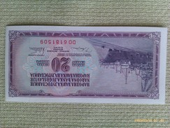 Billete Yugoslavia. 20 Dinares. 1978. Sin Circular - Yugoslavia