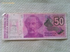 Billete Argentina. 50 Australes. - Argentine