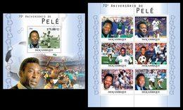 MOZAMBIQUE 2010 - Pele - YT 3486-91 + BF340; CV = 38 € - Fútbol