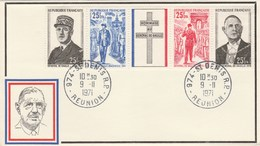 FDC - Général De Gaulle - St Denis De La Réunion - 1971 - De Gaulle (General)