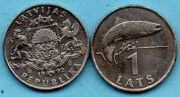 R3/  LATVIA / LETTONIE  1 LATS 1992 Km#12 - Letonia