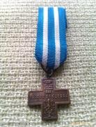Medalla Miniatura Croce Valore Di Guerra. Italia. II Guerra Mundial. 1945. Categoría Bronce. Dada A Los Excombatientes - Italie