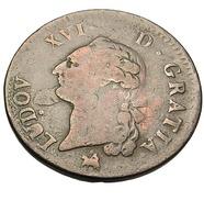 Sol - Louis XV - France - Cuivre - 1791 B - Rouen - TB+ - - 987-1789 Royal