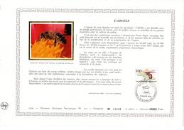 """FRANCE 1979 : Feuillet DAP 1° Jour CERES En Soie RARE (4800 Ex) """" L'ABEILLE """" N° YT 2039. Parfait état - Bienen"""