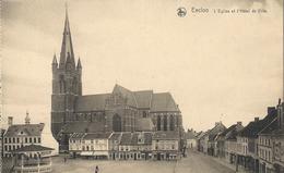 Eecloo      L'Eglise Et L'Hôtel De Ville.   -    EDIT.  :   DELHAIZE - Eeklo