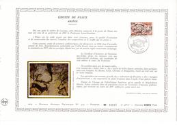 """FRANCE 1979 : Feuillet DAP 1° Jour CERES En Soie RARE (4800 Ex) """" GROTTE DE NIAUX """" N° YT 2043. Parfait état - Préhistoire"""