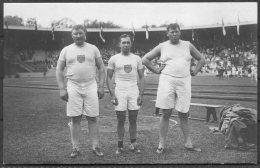 1912 Sweden Stockholm Olympics Official RP Postcard 135. Shot Putt, MacDonald, Witney, Rose, USA Athletics - Olympic Games