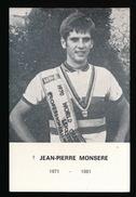 JEAN PIERRE MONSERE - WERELDKAMPIOEN WIELRENNEN - ROESELARE 1948 - 1971 ST.PIETERS LILLE - 2 SCANS - Avvisi Di Necrologio