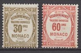 MONACO 1924 / 1932  LOT N° 15 ET 16 - NEUFS*  /FD75 - Segnatasse