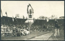 1912 Sweden Stockholm Olympics Official RP Postcard 183. C.D.Bricker, Canada,Running Long Jump - Olympic Games