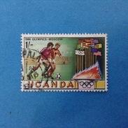 1980 UGANDA FRANCOBOLLO USATO STAMP USED - Giochi Olimpici Olimpiadi Mosca Calcio 1 - Uganda (1962-...)