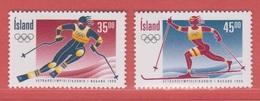1998 ** Islande  (sans Charn., MNH, Postfrish)   Yv  835/6Mi  882/3 - 1944-... Republik