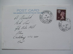 GB 1979 Postcard - West Sandwick - Yell - Shetland Postmark - Postmark Collection