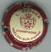 CAPSULE-CHAMPAGNE BERGER L N°01 Contour Bordeaux - Champagne