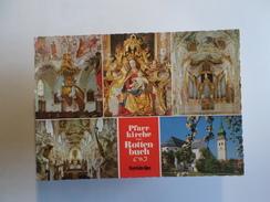1960 YEARS GERMANY ALLEMAGNE ROTTENBUCH PFARRKIRCHE BAYERISCHE ALPEN MULTI VIEWS POSTCARD - Weilheim
