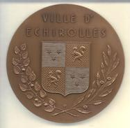 """FRANCE --- Médaille Ville D' ECHIROLLES --- """" VILLENEUVE """" - Touristiques"""