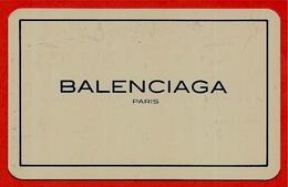 BALENCIAGA Paris - Carte De Garantie (plastique Rigide) - Créateur De MODE 75 - Parfums & Beauté