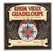 Etiquette  Rhum Vieux Guadeloupe - Vieilli En Fût De Chêne - 100 Cl 50% - Sodipa, Ste Rose - GUADELOU¨PE - - Rhum