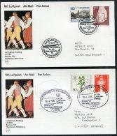 1985 Sweden Germany Lufthansa First Flight Cards(2) Goteborg / Hannover