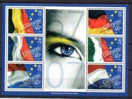Gibraltar - 2007 - 50th Anniversary Of Treaty Of Rome Miniature Sheet - MNH - Gibraltar