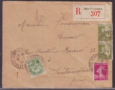 FRANCE - Lettre Recommandée Ponthierry Pour Fontainebleau 13/01/1934 - France