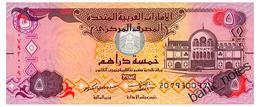 UNITED ARAB EMIRATES 5 DIRHAMS 2015 Pick 26c Unc - United Arab Emirates
